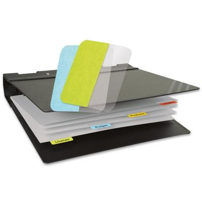 3L Index Tabs, Assorted Colours, 12 x 40 mm, 48 pcs - Blauw, Groen, Rood, Geel