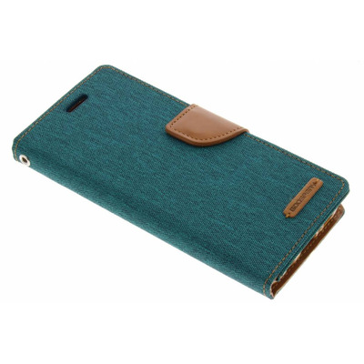 Canvas Diary Booktype Samsung Galaxy S8 - Groen / Green Mobile phone case