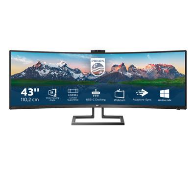 Philips P Line 32:10 SuperWide Curved LCD-scherm Monitor - Zwart