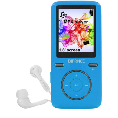 Difrnce MP1805 - MP4 Speler - 8 GB - Blauw MP3 speler