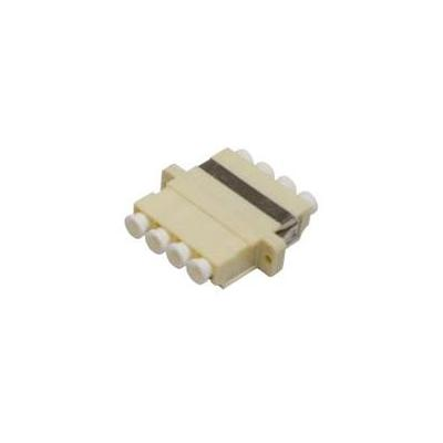 Microconnect fiber optic adapter: LC adapter MM Quad Beige