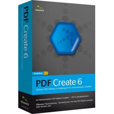 Nuance PDF Create 6, 501 - 1000u, EN desktop publishing