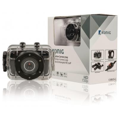 König actiesport camera: HD-actiecamera met 720p, waterdicht  - Zwart
