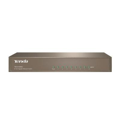 Tenda Gigabit Ethernet x 8, IEEE 802.3/u/ab/x, 16Gbps, 11.9Mpps, AC 100-240V, 50/60Hz, DC 9V, 1A, EU Router - Grijs