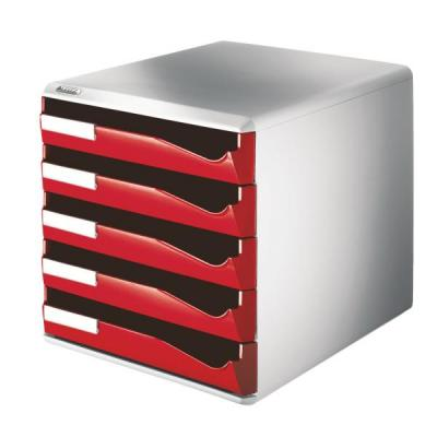 Leitz archiefdoos: Post Set (5 drawers)  Red - Rood