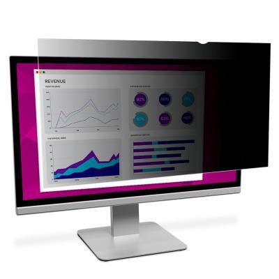 """3M High Clarity Privacyfilter voor breedbeeldscherm voor desktop 22"""" Schermfilter - Zwart,Doorschijnend"""