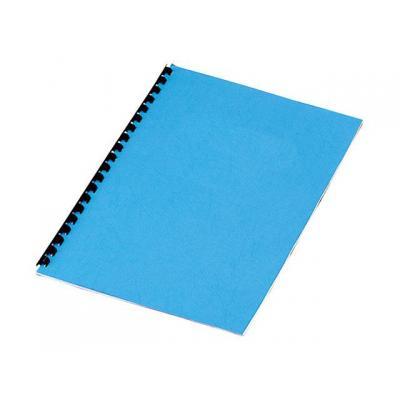 Staples binding cover: Schutblad SPLS A4 kart 250g blauw/pk 100