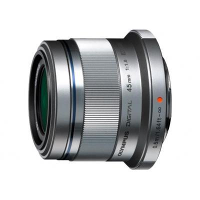 Olympus camera lens: M.ZUIKO DIGITAL 45mm 1:1.8 - Zilver