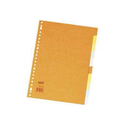Staples schutkaart: Tabblad SPLS A4 23r 2x5kleurkarton/se10