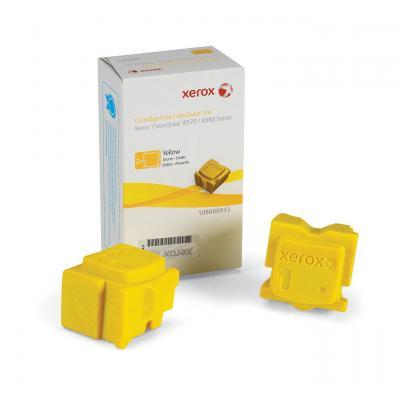 Xerox inkt stick: ColorQube 8570 inkt, geel (2 Blokjes 4.400 Pagina's) voor ColorQube 8570