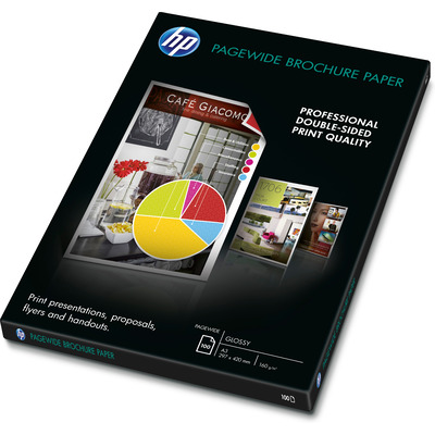 HP PageWide Glossy Brochure Papier - Wit