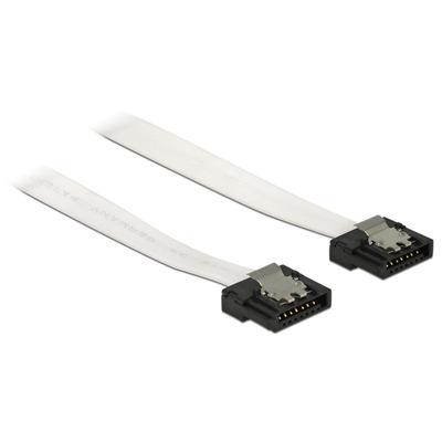 DeLOCK 0.3m 2xSATA ATA kabel - Zwart, Wit