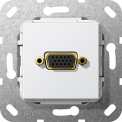 GIRA Basiselement VGA 15-polig Verloopkabel, zuiver wit glanzend Wandcontactdoos