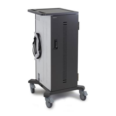 Ergotron YES35 Portable device management carts & cabinet - Zwart,Zilver