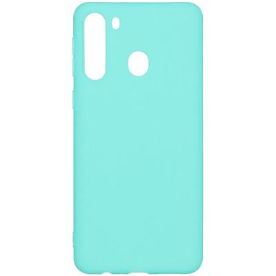 Color Backcover Samsung Galaxy A21 - Mintgroen - Mintgroen / Mint Green Mobile phone case