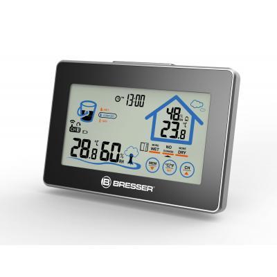 Bresser optics hygrometer: -39.9 - 59.9 °C, 20 - 95 % Humidity, 50m, 23x142x96mm, 210g, Black/Silver - Zwart, Zilver
