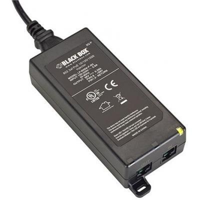 Black Box 802.3af 10/100/1000 PoE Injector PoE adapter - Zwart