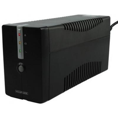 König UPS: Uninterruptible Power Supply 650VA/360W - Zwart