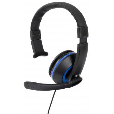 Gioteck game assecoire: Gioteck, XH-50 Wired Mono Headset (Black / Blue)  PS4