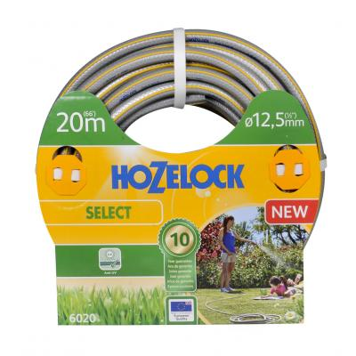 Hozelock tuinslang: tuinslang Select Ø 12.5 mm 20 meter - Grijs, Geel