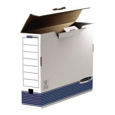 Fellowes archiefdoos: Bankers Box System 100mm A3 Transfer File - Blue - Blauw