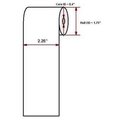 "Datamax o'neil thermal papier: Standard 2.25"" x 80'"