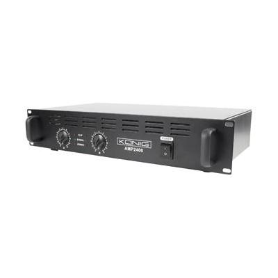 König audio versterker: 2 x 120W, 90dB(A), Zwart