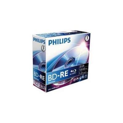 Philips BD-RE, 25GB / 135min, single layer, 2x BD