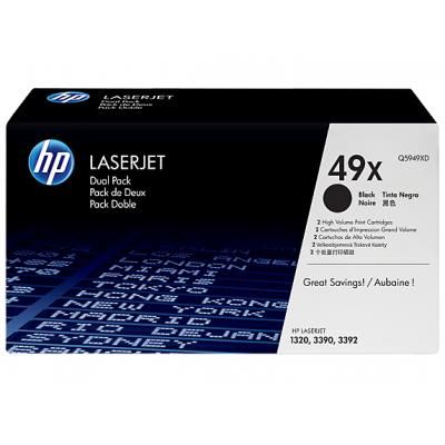 HP toner: 49X 2-pack zwart o.a voor LaserJet 3390 & 4200