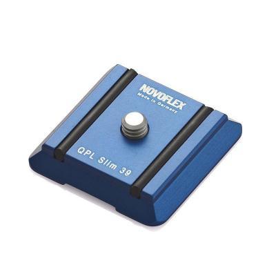 "Novoflex statief accessoire: Camera plate ""Slim"", 39mm - Blauw"