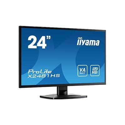 """Iiyama ProLite X2481HS-B1 23,6"""" Full HD VA - Desktop Monitor - Zwart"""