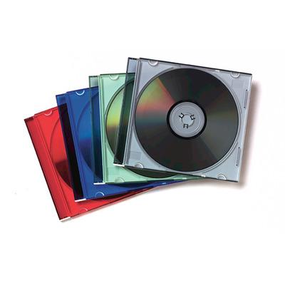 Fellowes 25x Slimline CD doosjes - Multi kleuren