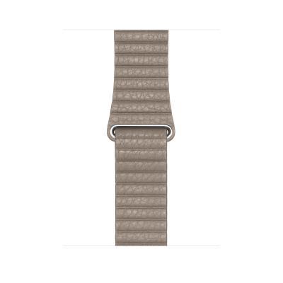 Apple : Leren bandje - Steengrijs (44 mm) - Medium - Zand