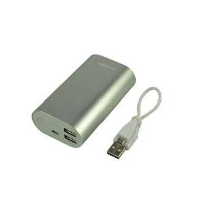2-power powerbank: 10000mAh, Li-Ion, 2 x USB, 5 V, 256 g, white - Wit