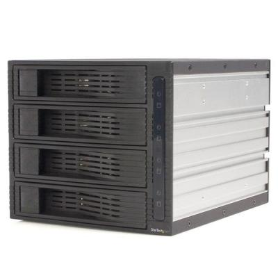 Startech.com drive bay: 4-Bay 3,5 inch Hot-Swappable SATA Mobile Rack Backplane - Zwart