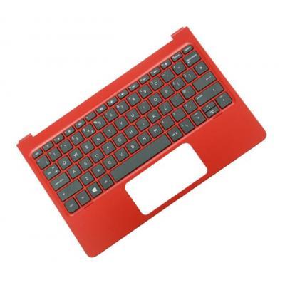 Hp notebook reserve-onderdeel: Top Cover & Keyboard (Portugal) - Zwart, Rood