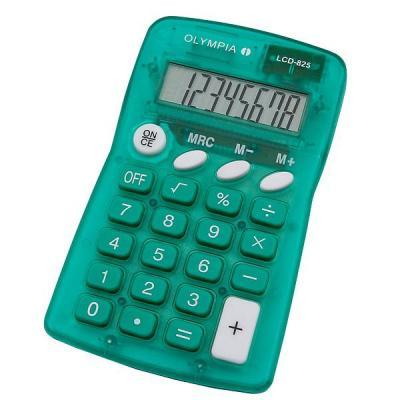 Olympia LCD 825 Calculator - Groen