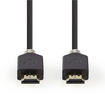 Nedis Ultra High Speed HDMI™-Kabel, HDMI™-Connector - HDMI™-Connector, 1,00 m, Antraciet