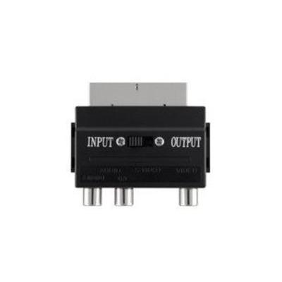 Belkin SCART MSvideo Fplus Kabel adapter - Zwart
