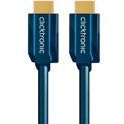 ClickTronic 0.5m High Speed HDMI HDMI kabel - Blauw