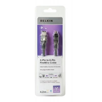 Belkin fireware kabel: F3N415cp 4.2m - Zwart