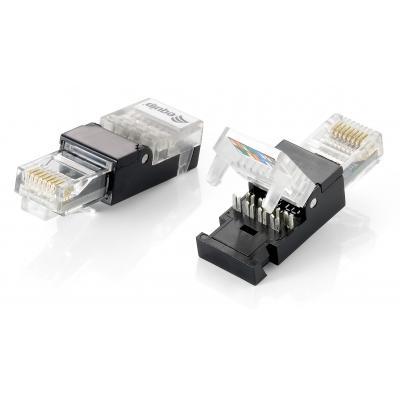 Equip Tool-free RJ45 Plug, Cat.6 Kabel connector - Zwart, Transparant