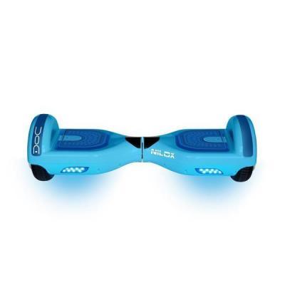 "Nilox : DOC HOVERBOARD SKY BLUE 6.5"", 4.400 mAh (120 min), 10 km\h, 100 kg - Blauw"