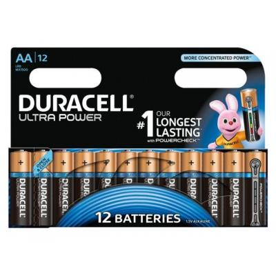 Duracell batterij: 12 x AA, alkaline - Zwart, Goud