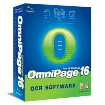 Nuance OCR software: OmniPage OmniPage Professional 16, 251-500u, EN