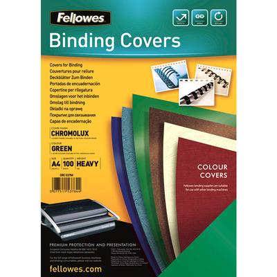 Fellowes Chromolux dekbladen glans Binding cover - Groen