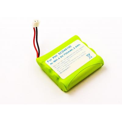Microbattery : 3.4Wh Baby Monitor Battery, NiMH 4.8V 700mAh - Groen, Wit