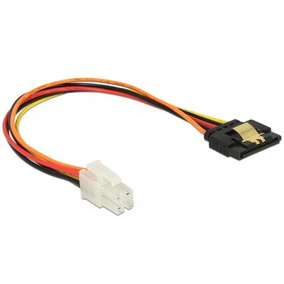 DeLOCK P4 male > SATA 15 pin receptacle 20 cm - Multi kleuren