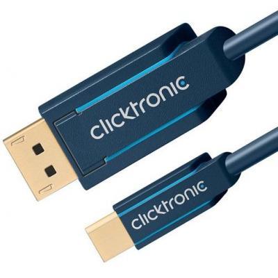 ClickTronic 1 x DisplayPort, 1 x mini DisplayPort, 1.0 m - Blauw