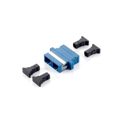 Equip SC Fiber Optic Coupler, Single-mode Duplex Fiber optic adapter - Blauw